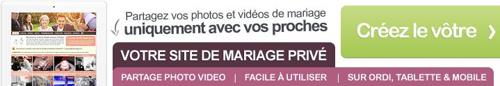 Créez votre site de mariage privé et partagez photos et vidéos de façon sécurisée avec vos invités