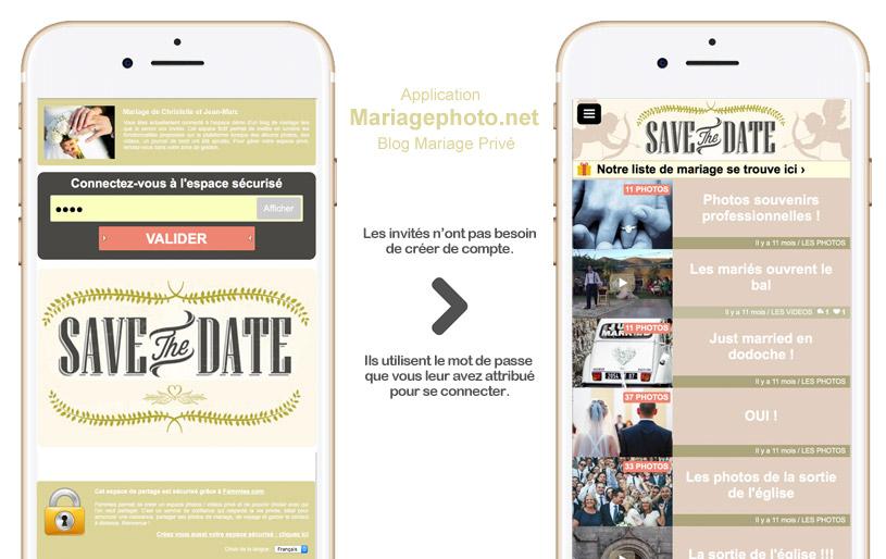 Sur ordinateur, tablette ou mobile, vos invités pourront commenter vos albums photos et vidéos de mariage